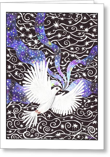 Greeting Card featuring the painting Breathing Life Into Darkness by Lise Winne