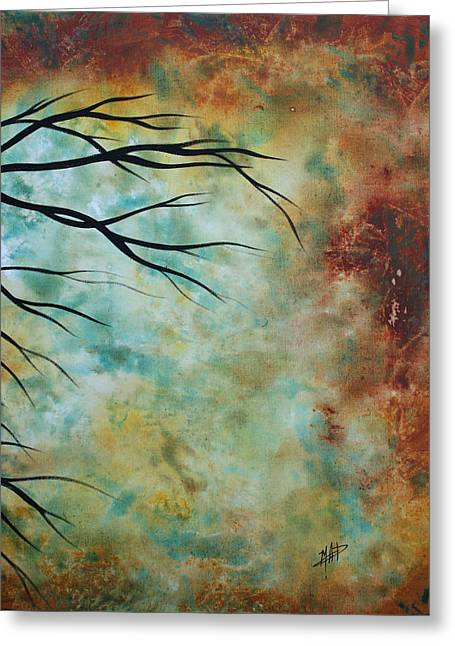 Breathless 3 By Madart Greeting Card by Megan Duncanson