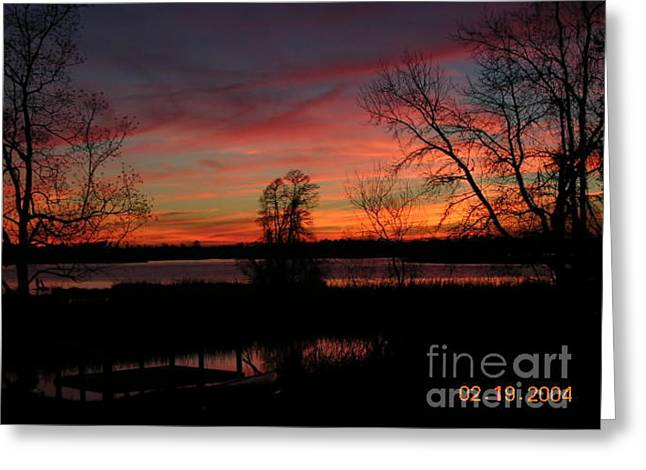 Breathtaking View Of Cooper River Sunset Greeting Card by Lee Ann Wunderler