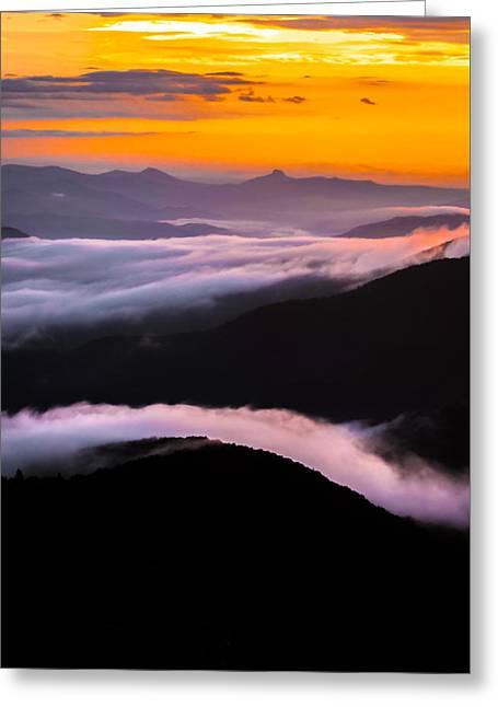 Breatthtaking Blue Ridge Sunrise Greeting Card