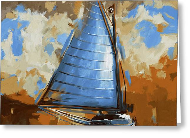 Breck Marshall Catboat 287 3 Greeting Card by Mawra Tahreem