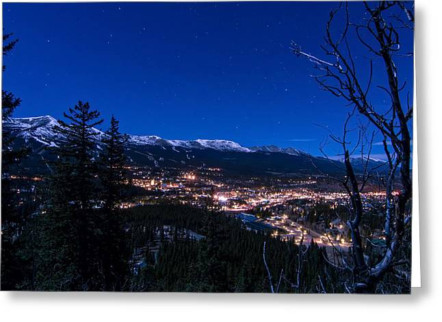 Breck Under A Full Moon Greeting Card by Michael J Bauer