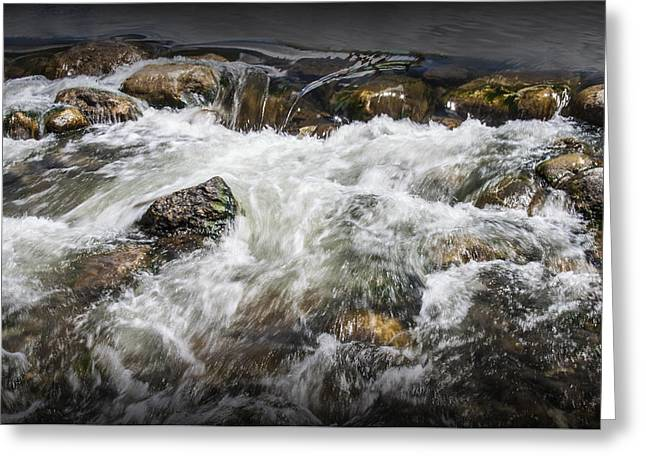 Breckenridge Colorado Water Rapids Greeting Card