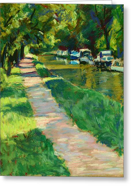 Brecon And Monmouth Canal At Goytre Wharf Greeting Card by Judy Adamson
