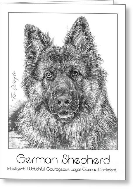 Breed Poster German Shepherd Greeting Card
