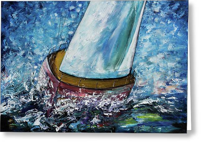 Breeze On Sails -2  Greeting Card by Art OLena