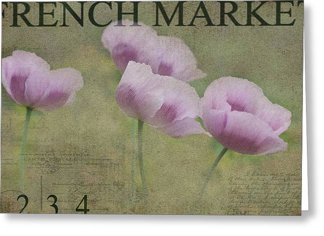 Breezy Anemones Greeting Card by Rebecca Cozart
