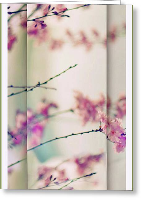 Greeting Card featuring the photograph Breezy Blossom Panel by Jessica Jenney