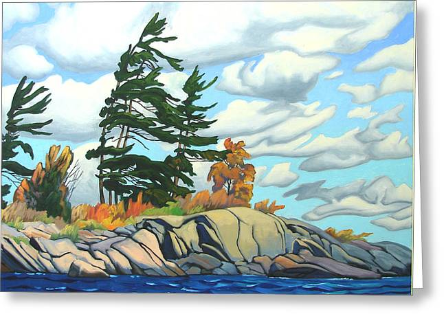 Breezy Day Georgian Bay Greeting Card by Paul Gauthier