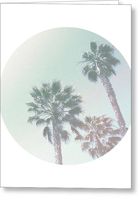 Breezy Palm Trees- Art By Linda Woods Greeting Card by Linda Woods