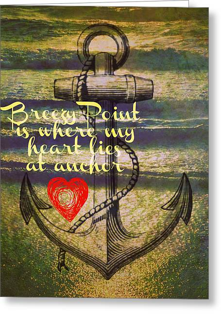 Breezy Point Anchor Greeting Card