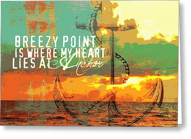 Breezy Point New York Seaside Anchor Greeting Card