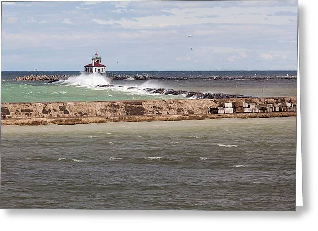 Breitbeck Park, Overlooking Oswego Harbor Greeting Card