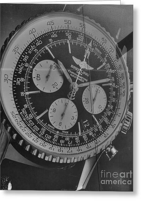 Breitling Chronometer Greeting Card
