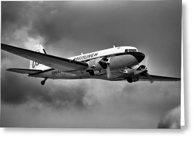 Breitling Dc-3 Greeting Card