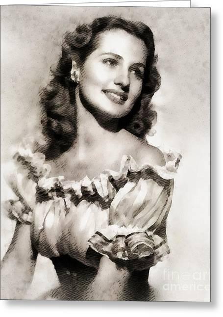 Brenda Marshall, Vintage Actress Greeting Card by John Springfield