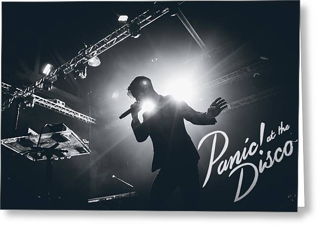 Brendon Urie Of Panic At The Disco Greeting Card