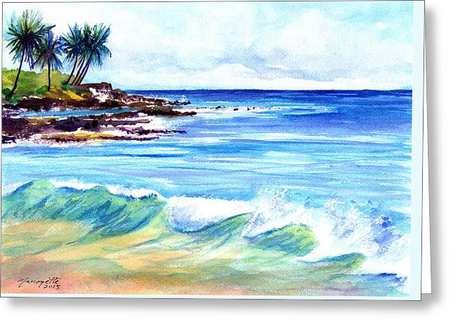 Brennecke's Beach Greeting Card by Marionette Taboniar