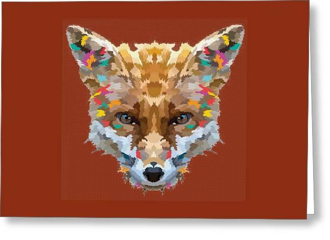 Brerr Fox T-shirt Greeting Card