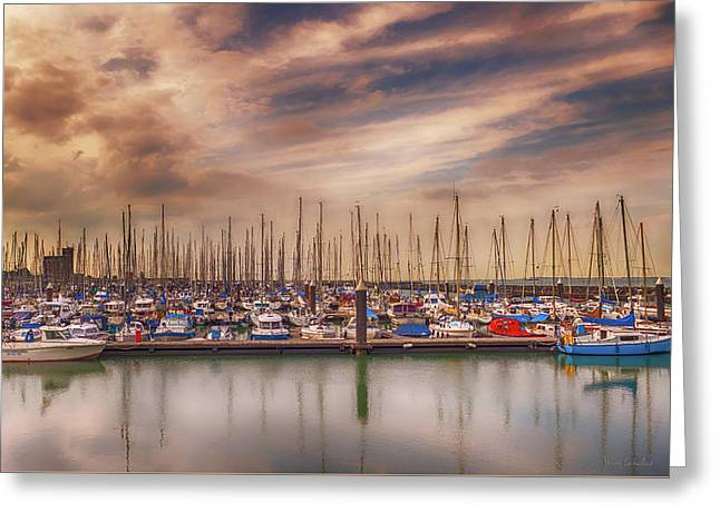 Breskens Marina Greeting Card