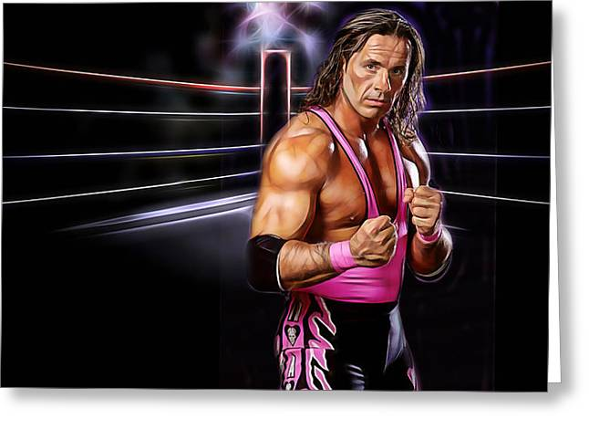 Bret Hart Wrestling Collection Greeting Card by Marvin Blaine