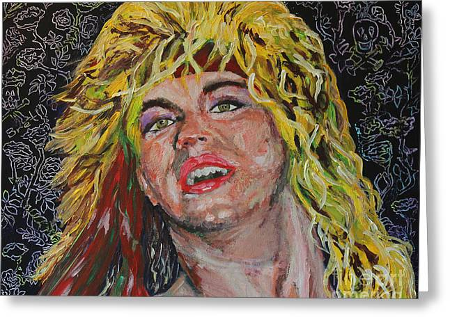 Bret Michaels 80s Hair Bands Poison Greeting Card by Robert Yaeger