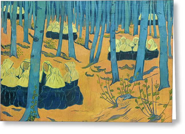 Breton Women. The Meeting In The Sacred Grove Greeting Card by Paul Serusier