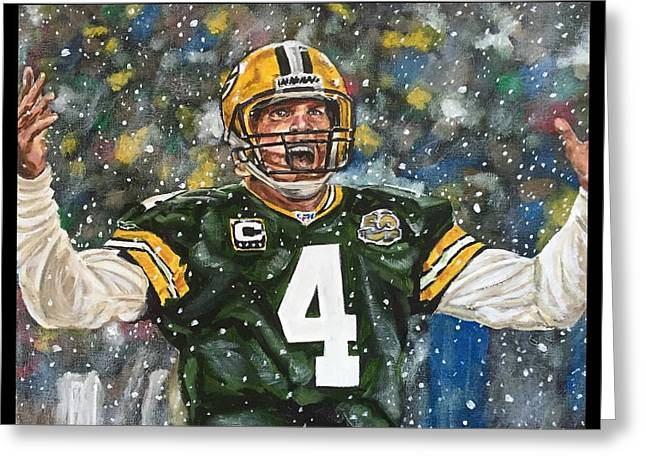 Brett Favre Greeting Card
