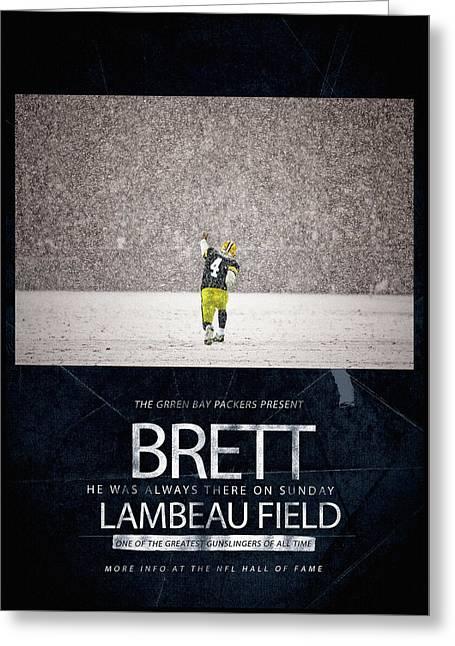 Brett Favre Underground Poster Greeting Card