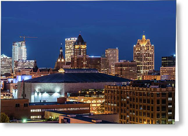 Brew City At Dusk Greeting Card