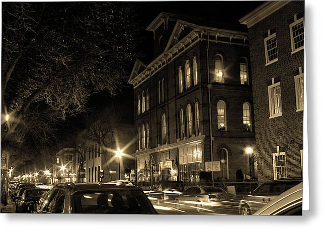 Greeting Card featuring the photograph Market Street by Robert Geary