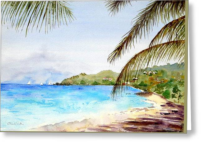 Brewers Bay Beach Greeting Card