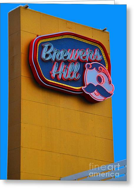 Brewers Hill Retro Greeting Card by Jost Houk