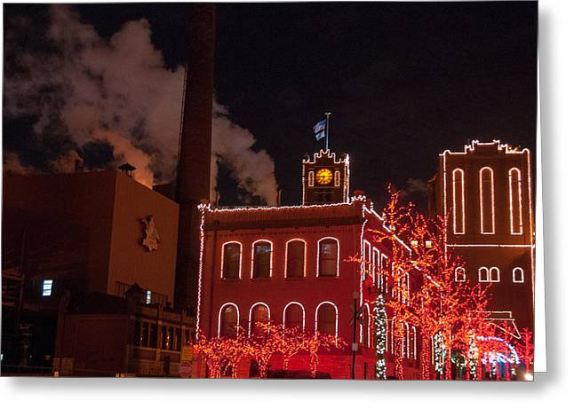 Brewery Lights Greeting Card