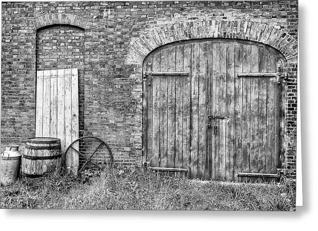 Greeting Card featuring the photograph Brewhouse Door by Nick Bywater