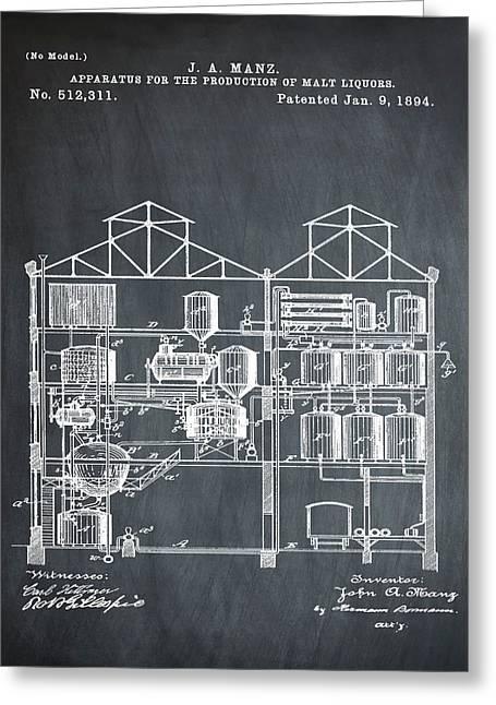 Brewing Malt Liquors Patent 1894 In Chalk Greeting Card