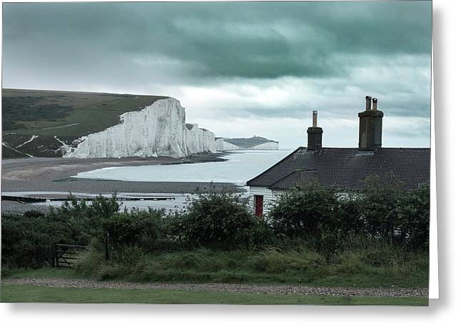 brewing storm Seven Sisters - England Greeting Card