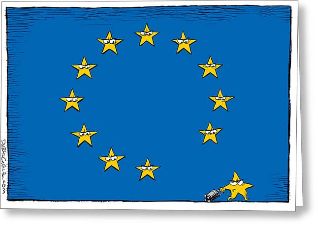 Brexit Eu Flag  Greeting Card