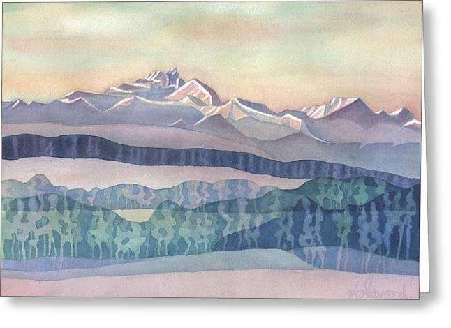Brian Boru Mountain Greeting Card by Anne Havard