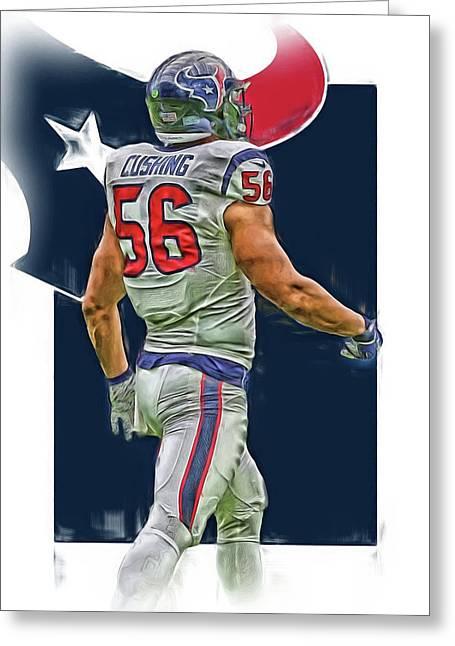 Brian Cushing Houston Texans Oil Art Greeting Card