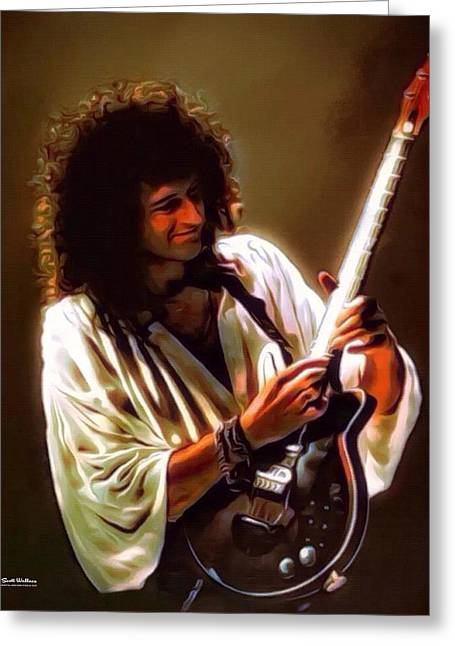 Brian May Of Queen Greeting Card