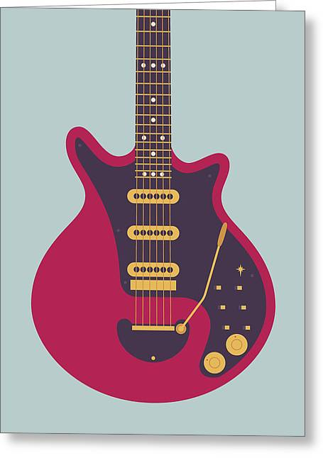 Red Special Guitar - Grey Greeting Card