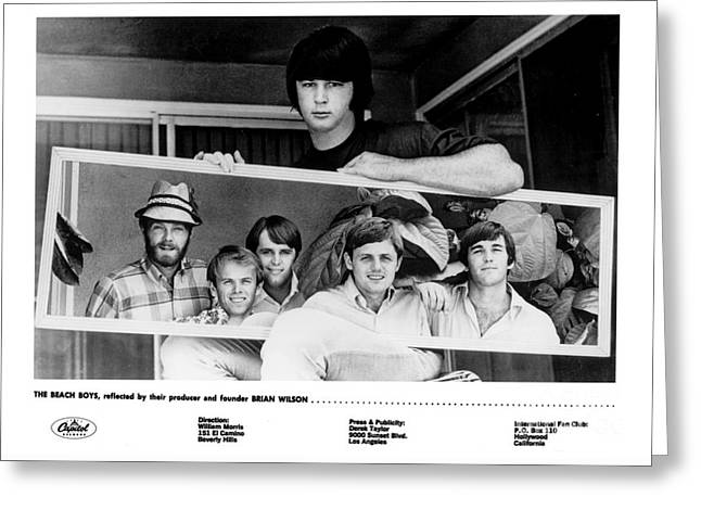 Brian Wilson And The Beach Boys 1966. Greeting Card by The Titanic Project