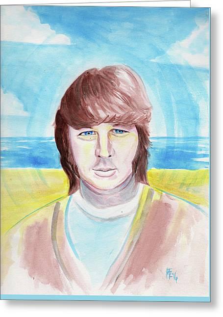 Brian Wilson Greeting Card by Mark Zeilman