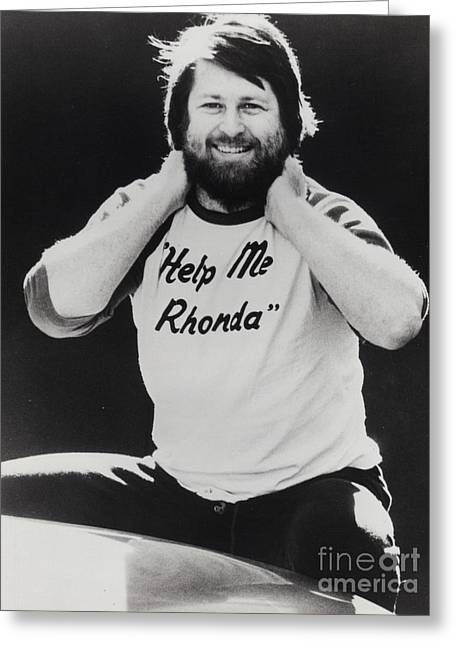 Brian Wilson Of The Beach Boys Promotional Photo - 1976 Greeting Card