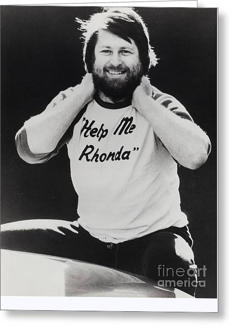 Brian Wilson Of The Beach Boys Promotional Photo - 1976 Greeting Card by The Titanic Project