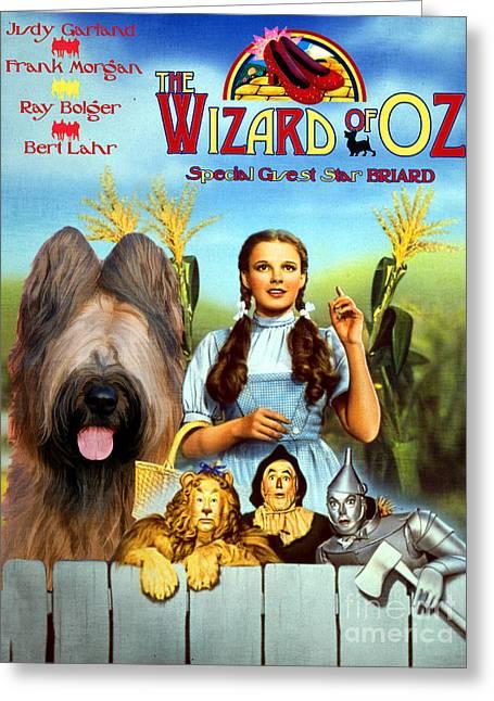 Briard Art Canvas Print - The Wizard Of Oz Movie Poster Greeting Card by Sandra Sij