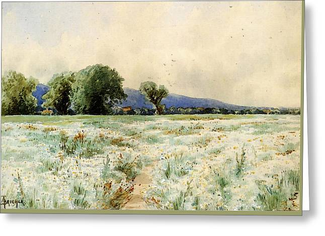 Bricher Alfred Thompson The Daisy Field Greeting Card