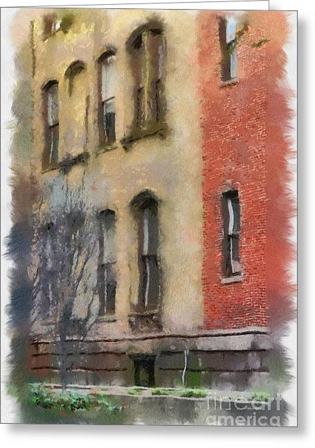 Brick Alley Greeting Card by Paulette B Wright