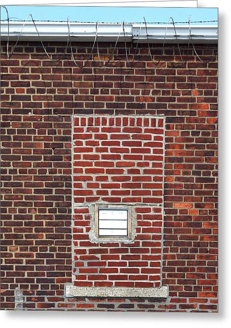 Brick And Barbed Wire Greeting Card